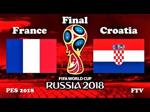 France vs Croatia | 2018 FIFA World Cup Final | PES 2018 Gameplay HD