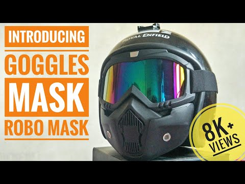 GOGGLE MASK FOR OPEN FACE HELMET | UNBOXING | REVIEW | RIDE R RAHUL.