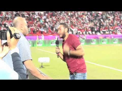 """Tamer Hosny : """"Ana Masry"""" - Egypt VS Brazil Match"""