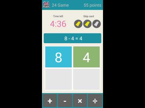 Video of 24 Game (24 math)