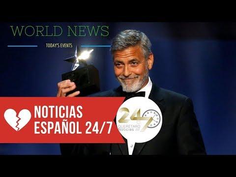 George Clooney herido tras un accidente de moto en Cerdeña