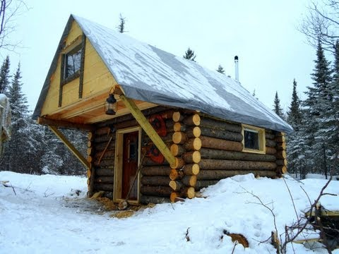 cabin - This simple, but cozy bush cabin was constructed in my spare time, and was completed in 8 months. My youth group, and several people from my church were a hu...