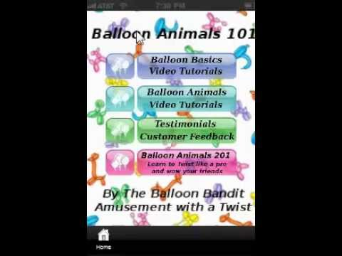 Video of Balloon Animals 101