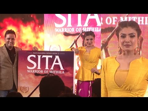 Raveena Tandon Launches The Book Cover Sita - Worrior Of Mithila