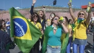 2014 World Cup: Fans Get Ready For World Cup Opening Ceremony