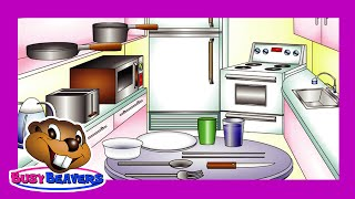 """""""In The Kitchen"""" (Level 1 English Lesson 26) CLIP - Learn English, Kids Education, Teach ESL"""