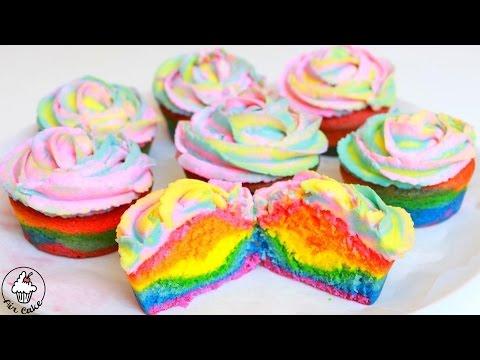 цветные капкейки рецепт с фото