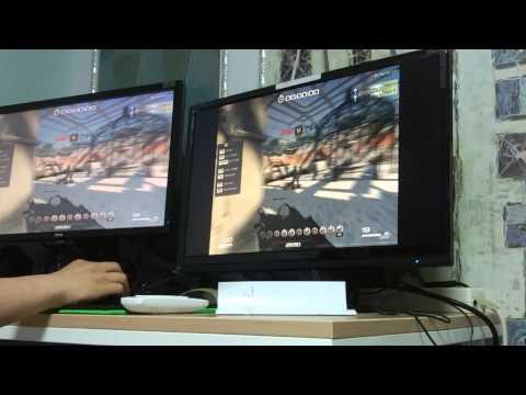 BenQ XL2420Z vs QNIX QX2414 LED 144 동일 주사율 (120hz)에서 응답속도 및 화면출력 체크 1 (SF2)