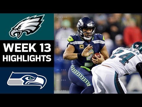 Eagles vs. Seahawks | NFL Week 13 Game Highlights (видео)