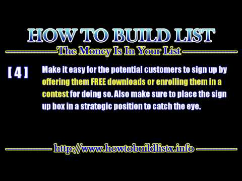 Learn 7 Tips to Successful List Building for Newbies