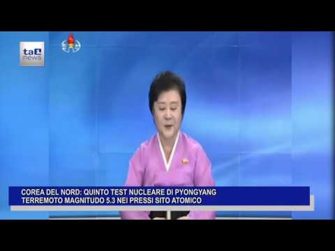 COREA DEL NORD: QUINTO TEST NUCLEARE DI PYONGYANG
