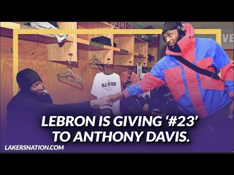 Video: Lakers NewsFeed: LeBron Is Reportedly Gifting His Jersey Number 23 to Anthony Davis