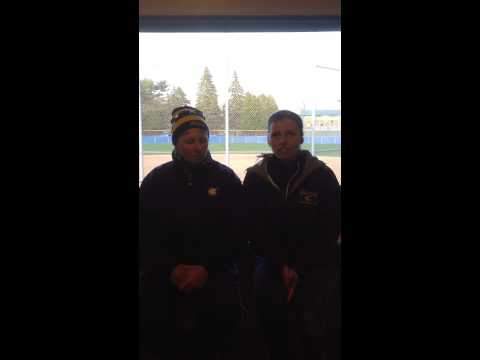 Softball: Coach Huntington and Kenzie Winning recap sweep of UW-Superior