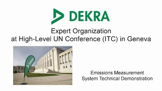 DEKRA - ITC 2020 - United Nations - Geneva