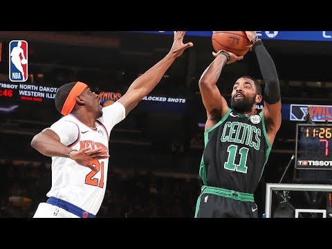 Video: Full Game Recap: Celtics vs Knicks | Kyrie Records Double-Double