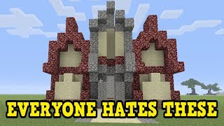 Minecraft Xbox / PE - Builds Made From ONLY TERRIBLE Blocks