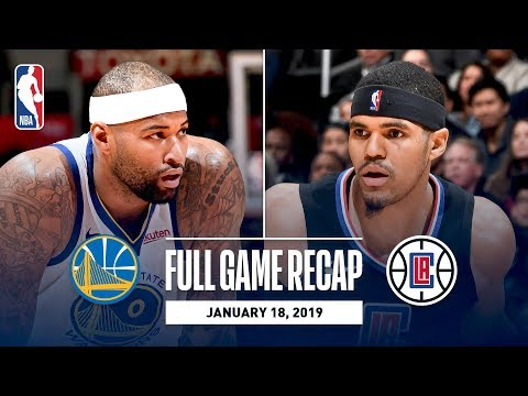 Full Game Recap: Warriors vs Clippers  DeMarcus Cousins' First Game With Golden State
