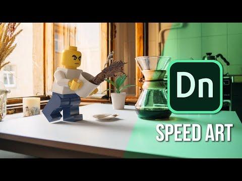 Adobe Dimension CC | Speed Art - Coffee Time