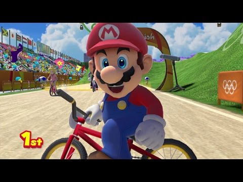 Mario & Sonic at the Rio 2016 Olympic Games – BMX (Gameplay with All Characters)