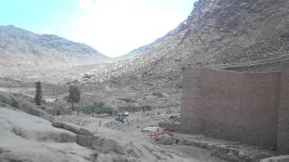A Panoramic View Of St Catherines Monestary On Mount Sinai