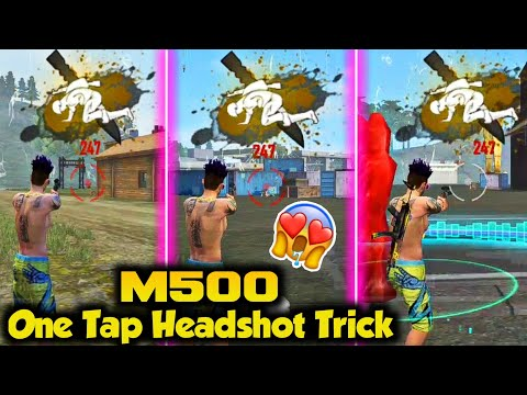 One Tap Headshot Trick With M500 - Free Fire Battlegrounds.