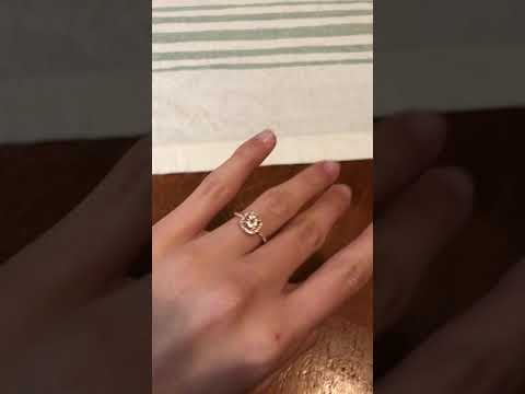 6.0mm Morganite and 1/4 CT. T.W. Diamond Frame Bridal Set in 14K Rose Gold at Zales