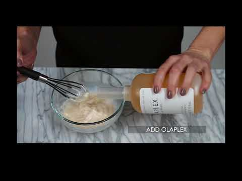 How to mix Olaplex No.1 to any hair color!