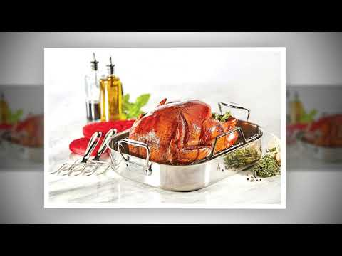 All-Clad E752C264 Stainless Steel Dishwasher Safe Large 13-Inch x 16-Inch Roaster