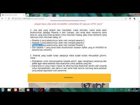 Video 4 Sistem Ta'awun dan strategi singkat syiar sedekah
