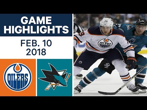 Video: NHL Game Highlights | Oilers vs. Sharks - Feb. 10, 2018