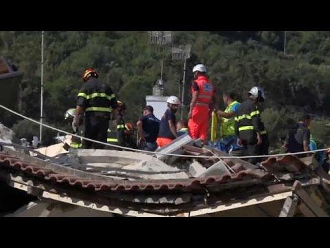 Ίσκια: Νέος μετασεισμός και εικόνες καταστροφής στο νησί