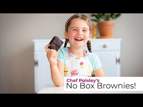 No Box Brownies?! Chef Paisley Makes Homemade Fudge Brownies - Kid-Friendly Recipes from a Kid Chef