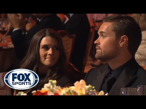 awards - Danica Patrick is an easy target for Jay Mohr at the 2013 NASCAR Sprint Cup Awards Banquet.