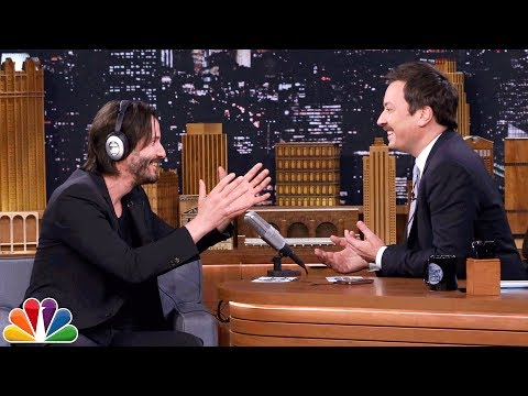 Keanu Reeves and Jimmy Fallon Play Whisper