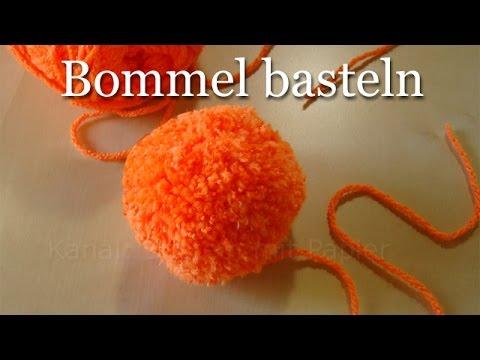 Bommel selber machen – Pompons einfach basteln – Basteln mit Wolle im Winter