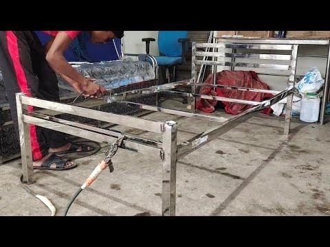 How To Make Stainless Steel Bed - Simple Bed Design