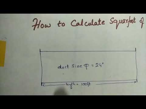 How to Calculate squarefoot of a round duct