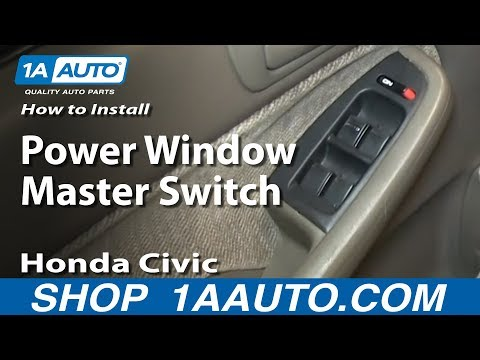 How To Install Replace Power Window Master Switch 1996-2000 Honda Civic