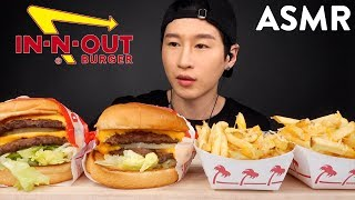 ASMR In-N-Out Burger Double Double Double (No Talking) Eating Sounds | Zach Choi ASMR