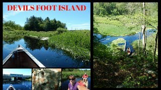 """In this video we canoe out to Devils Foot Island on the Stop River in Medfield Massachusetts. We went on June 25, 2017.We started on Dover Road in Millis at the Charles River and paddled out to the Stop River. Due to lots of Spring rain we were able to easily canoe out to Devils Foot Island.What a fun place to explore. This was the first time we have visited the Island. Normally the water levels would be to low this time of year to be able to canoe out here.I'm not sure how the Island got it name. There are two """"Foot Steps' in the Boulders that they call """"Devils Foot"""".While we were exploring we saw a large Garter Snake. We had a picnic lunch then continued back up the Stop River turning around at Noonhill Road. We did a round trip of 8 miles. It was such a great day.Our Canoe is Old Town Discovery 174 ********************************************************************Please Subscribe, Like, Comment and Share:You Tube:http://www.youtube.com/user/NaturesFairyMy second Channel: BikingAway:https://www.youtube.com/channel/UCfgDmWTZuHBlJxcyai0HBWQYou can find me on:Facebook Gluten Free Page:https://www.facebook.com/SharingGlutenFreeRecipesMy Blog for all my Gluten Free and some Low Carb Recipes:http://sharingglutenfreerecipes.blogspot.com/Instagram:http://instagram.com/sharingglutenfreerecipes/Pinterest:http://www.pinterest.com/naturesfairy/Twitter:https://twitter.com/NaturesFairyGoggle+:https://plus.google.com/u/0/104572512004936962263Tumblr:http://sharingglutenfreerecipes.tumblr.com/Thanks for watching,Peace ~ Love and JoyAlways be humble ~ Always be kindBrenda ~ NaturesFairy********************************************************************Devils Foot IslandRock impressionMedfield IslandMassachusetts IslandStop River IslandCharles RiverCanoeing the Charles RiverCanoeCanoeingCanoe LifeCanoe Millis MaCanoe Medfield MaStop RiverCanoeing the Stop RiverCauseway Street Bridge MedfieldNoonhill Street Bridge MedfieldOld Town CanoeRed CanoeMassachusetts NatureMass WildlifeGar"""