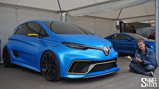 A 460hp electric Renault ZOE? Yes, it exists in the form of the ZOE e-Sport Concept! Renault Sport may have lost their marbles creating this one but as BenzeneBen discovers, thank goodness they did.Join us at the Goodwood Festival of Speed, in the First Glance paddock to take a look around this hyper hatch before Ben jumps in for a run on the hillclimb course.Thanks for watching, TimSubscribe: http://bit.ly/Shmee150YTWebsite: http://www.shmee150.comFacebook: http://www.fb.com/shmee150Instagram: http://www.instagram.com/shmee150