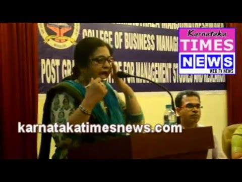 Human rights activist Teesta Setalvad in  Mangalore
