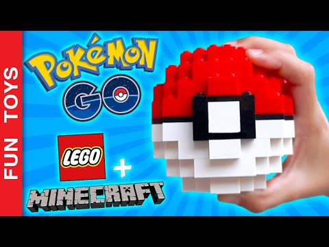 POKEBALL with Lego e Minecraft! DIY your own Pokeball! Tutorial! Pokémon Go!:  How about having your own Pokeball to show to friends!!! In this video we show how to build your Pokeball with Lego bricks and also in Minecraft!!!In the video you can see how to build each level!Watch to the end and see if we manage to catch a Pikachu with Lego Pokeball!Build your own and take your Pokeball in your Pokemon Go hunts!BUY POKÉMON TOYS HERE: http://amzn.to/2bVC7GiComment below what your favorite Pokémon, what your level in the game Pokemon Go and also if you want to see a video with