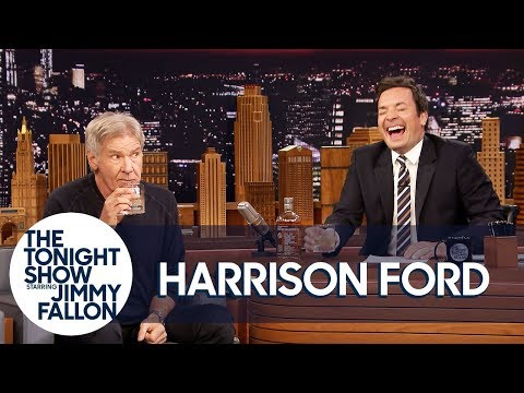 Harrison Ford and Jimmy Sip Glasses of Scotch and Tell Each Other Jokes