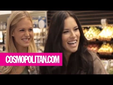 victoria's secret - Victoria's Secret models Erin Heatherton and Adriana Lima go grocery shopping with host Laura Brown. Find out what products the Angels use to wash their ling...