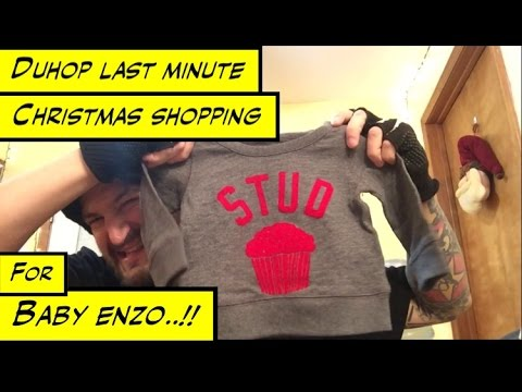 Duhop LAST MINUTE CHRISTMAS GIFT SHOPPING FOR BABY ENZO VLOG