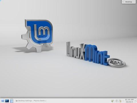 Linux Mint 17 64bit. Qiana. Installation. KDE desktop.