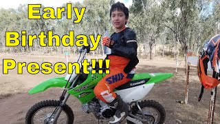 6. Kawasaki KLX 110L Review. Early Birthday Present for Alex at Pheonix Motorcross