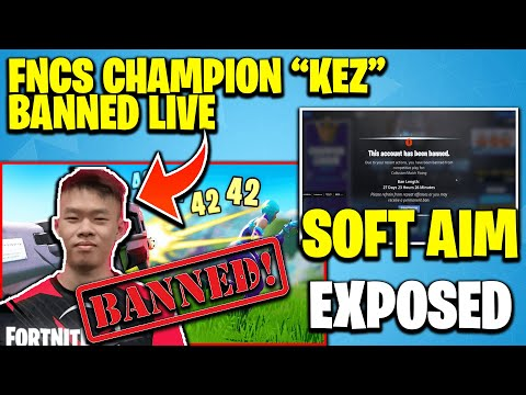 Pro Player Kez Banned In Fortnite For Cheating Live On Stream   Fncs Champion Kez Using Soft Aim