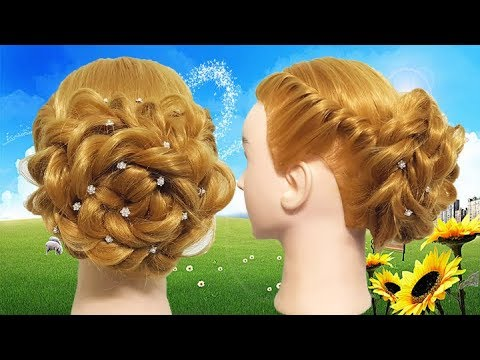 Amazing hairstyle for Party or Wedding  hair style girl  French braid hairstyles 2018